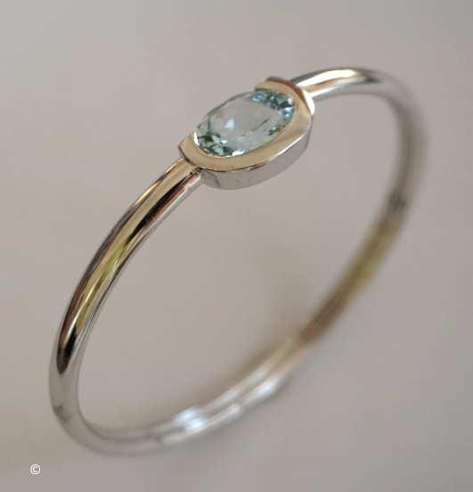 Bracelet Jonc Flexible Aiguemarine