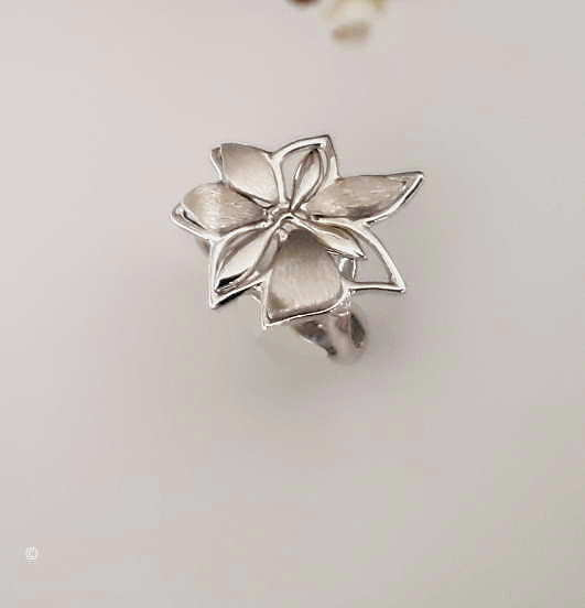 Pendentif Petite Fleur Mat Et Brillant