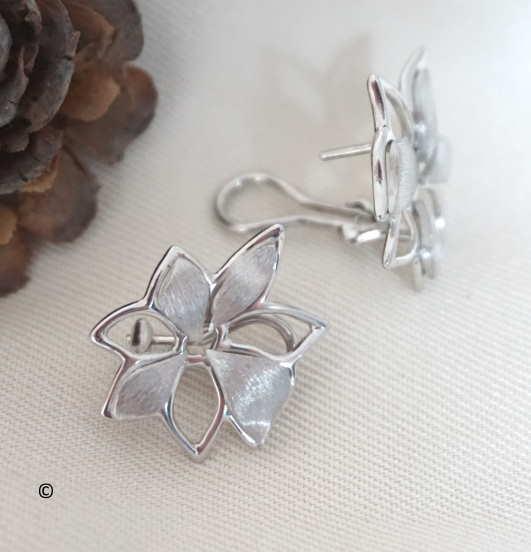 Boucles D'oreilles Petite Fleur Ajourée