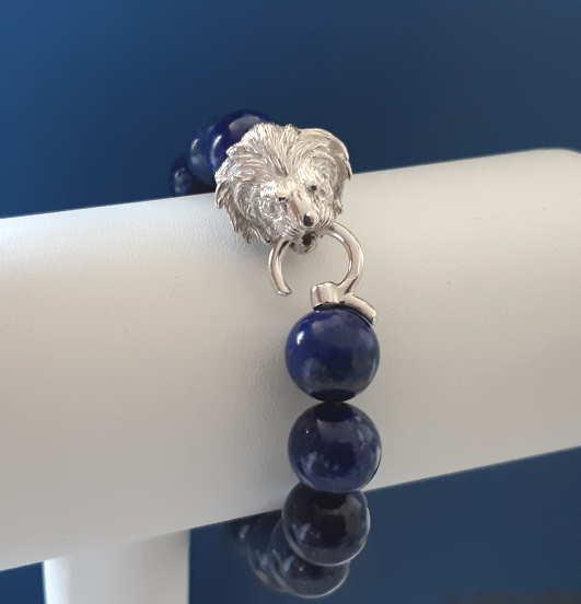 Bracelet Lapis-lazuli Tête De Lion